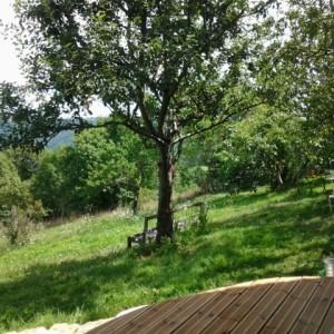 Parenthese Bien-être : Vue sur le jardin Peyro Traxo